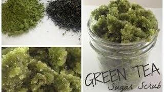 DIY Green Tea Sugar Scrub