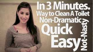 How To Clean A Toilet in 3 Minutes! (Clean My Space)