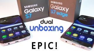 Samsung Galaxy S7 Edge & S7 -dual Unboxing, Cons & Benchmarks! (Indian Retail -Exynos)