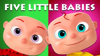 Five Little Babies Sitting On A Wall | Videogyan 3D Rhymes | Nursery Rhymes & Kids Songs