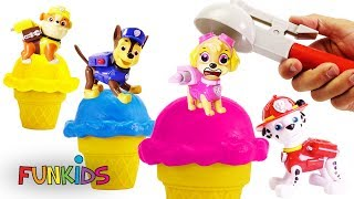 Learning Videos for Children: Paw Patrol Skye Ice Cream Stacking Cones