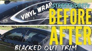 Blacked Out Trim Vinyl Wrapping Car Trimming Satin Matte Black Vinyl Wrap Black Out