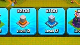 100 WALLS MAXED!  Th12 Farm to Max | Clash of Clans