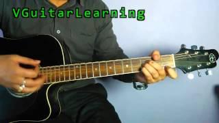 Vikas Sharma | Jeena Jeena Guitar Chord Lesson | Badlapur | Easy Tutorial | VGuitarLearning