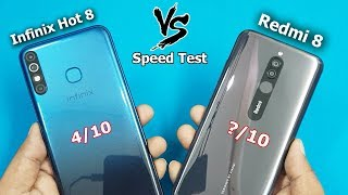 Redmi 8 Vs Infinix Hot 8 Speed Test Comparison || Antutu Bench Mark Scores || Rs6999 vs Rs.7999