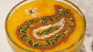 Persian Saffron Rice Pudding (Sholeh Zard) | شله زرد