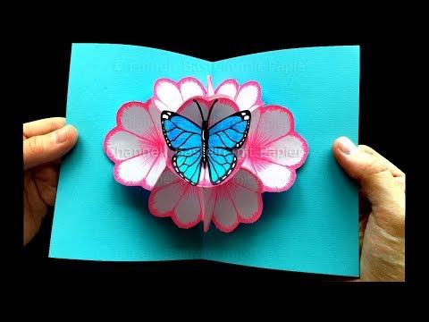 Xxx Mp4 Basteln Mit Papier Pop Up Karten Blumen Schmetterling Selber Machen 🌸 DIY Geschenke 3gp Sex