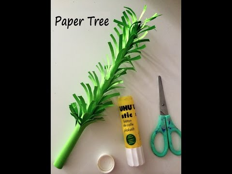 How to make 3D paper tree (DIY tutorial)