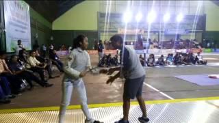Fencing (anggar) Oktavira Rachman Pra Pon 2015