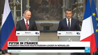 REPLAY - Watch French President Macron and Russian Leader Putin's Joint Press Conference