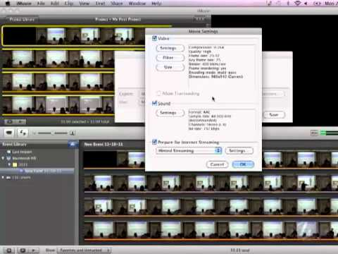 iMovie: Exporting to H.264