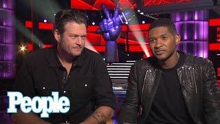 Blake Shelton & Usher Stare at Shakira! | Up Close | People