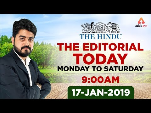 Xxx Mp4 17th January 2019 The Hindu The Editorial Today Editorial Discussion By Vishal Sir 3gp Sex