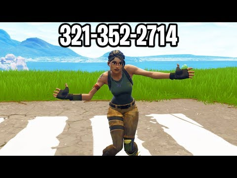 I put my PHONE NUMBER in my Fortnite Name & DANCED after every kill