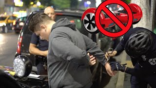 WE GOT ARRESTED FOR RIDING A HOVERBOARD! WTF!!! - COPS - Handcuffed - Crime - Illegal