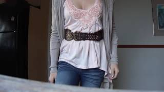 CUTE OOTD DOWNBLOUSE HOT