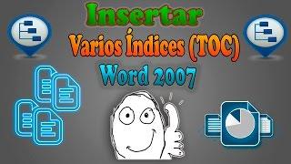 Como insertar dos o más índices (TOC) en un documento de Word | 2017 | Word 2007, 2010, 2013, 2016