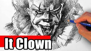 Drawing the IT Clown - Pennywise