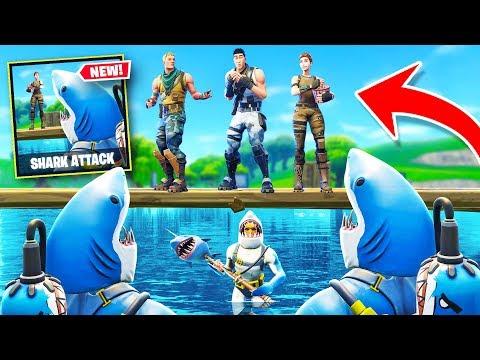 SHARK ATTACK NEW Custom Gamemode In Fortnite Battle Royale