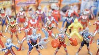 Ultraman Toys Collection Ultraman VS set ,Orb,Zero,Tiga,Mebius,Dyna,Gaia,Seven,Ace,Agul