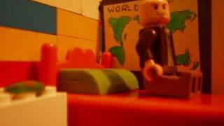 T-rex attacks lego city