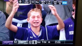 Northwestern fan crying and freaking out.