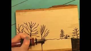 Kerajinan kayu - lukis bakar