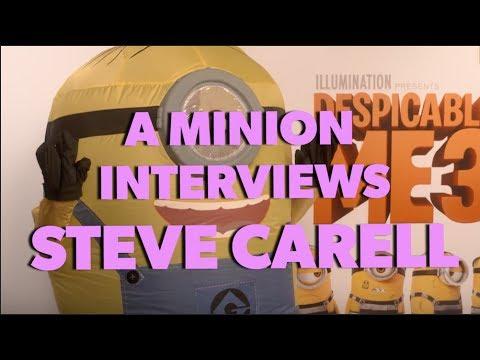 Interviewing Steve Carell and Kristen Wiig AS A MINION