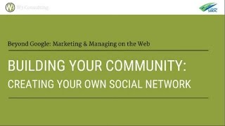 Building Your Community: Creating Your Own Social Network