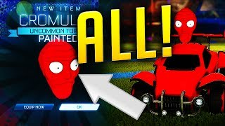 ALL PAINTED Cromulon TOPPERS! SUPER RARE *NEW* ITEMS! (Rocket League Trading)