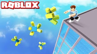 PUSH NOOBS OFF A SKYSCRAPER IN ROBLOX
