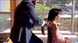 الطفلة جنى تقص شعرها على الهواء وتتبرع به لمرضى السرطان