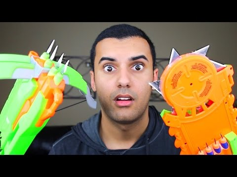 watch MOST DANGEROUS TOY OF ALL TIME 2.0!! (EXTREME NERF GUN / ZING BOW EDITION!!) FIRE CHALLENGE!!