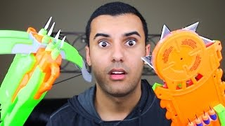 MOST DANGEROUS TOY OF ALL TIME 2.0!! (EXTREME NERF GUN / ZING BOW EDITION!!) FIRE CHALLENGE!!