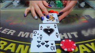 ASMR ♠️♥️ Blackjack Roleplay Card Game, Come Play w/ Me!