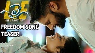 #LIE Movie Freedom Song Teaser - Nithiin, Arjun, Megha Akash   Hanu Raghavapudi