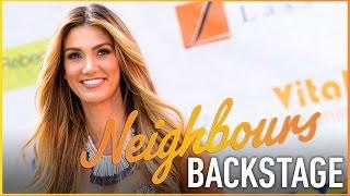 Delta Goodrem behind the scenes on Neighbours