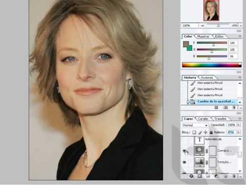 Como cambiar el color del cabello Photoshop