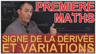 Signe de la dérivée et variations - Maths 1ère - Les Bons Profs
