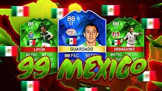 OMG 99 MEXICO TOTS GUARDADO AND MEXICAN DREAM TEAM! FIFA 16 ULTIMATE TEAM
