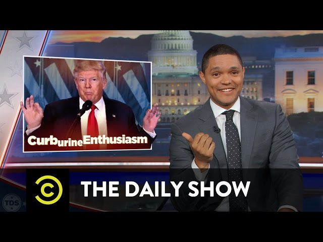 """The Daily Show - Obama Says Goodbye & Trump (Allegedly) Gets a """"Golden Shower"""""""