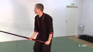Wing Tsun Luk Dim Boon Kwun Form - slow motion training sequence - Pole Form