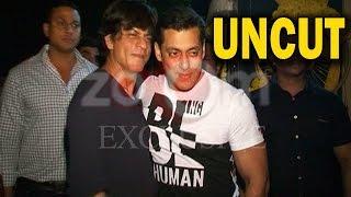 UNCUT - Salman Khan & Shahrukh Khan At Salman Khan's Residence! | EXCLUSIVE