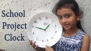 School project Clock/ how to make clock /DIY