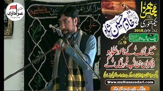 Zakir Taqi Abbas Qayamat | Majlis | 1 Jan 2018 | Yadgar Masiab |