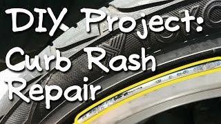 Curb Rash Rim Repair (silver wheels)