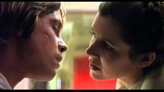 Leia & Luke incest hot kiss & deleted passionate scene, Star Wars