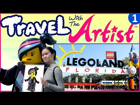Fun Things to Do to See to Draw in LEGOLAND Travel with Artist Vlog 1
