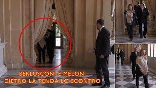Giorgia Meloni litiga con Berlusconi al Quirinale