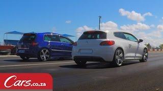 Drag Race: Modified VW Scirocco R vs Stock VW Golf 7 R